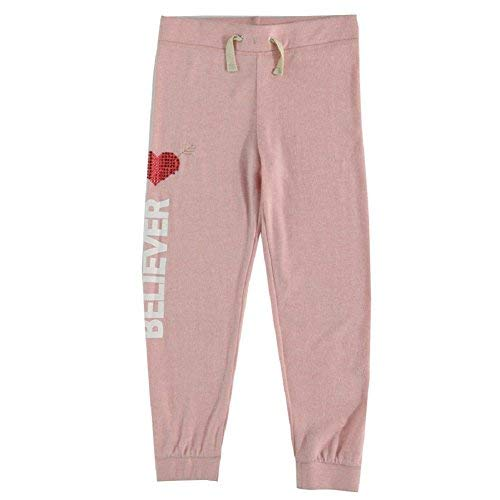 Jessica Simpson Girls 7-16 Paige Embellished Believer Hacci Jogger Pant (Jessica Simpson 15)