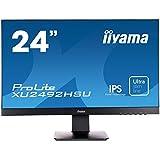 iiyama ProLite XU2492HSU-B1 60,5cm (23,8 Zoll) IPS LED-Monitor Full-HD (VGA, HDMI, DisplayPort, USB2.0, Ultra Slim Line) schwarz