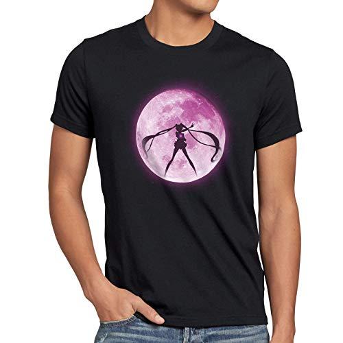style3 Mondzauber Herren T-Shirt Sailor mondstein Moon Luna Bunny Mars Anime, Größe:XXL