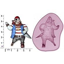 Pirata # 2Craft Fondant arcilla polimérica jabón Chocolate molde de silicona mold