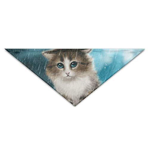 Niedliche Cat Dog Bandana Lätzchen Welpen Cat Head Schal Zubehör (Einfache Wikinger Kostüm)