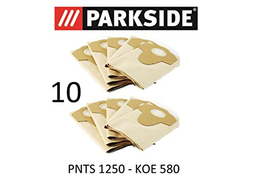 10 Sacs d'aspirateur Parkside PNTS 1250 20 L Lidl Koe 580 Marron 906–05 – Parkside Aspirateur sec humide
