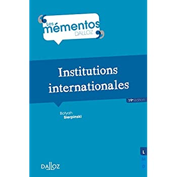 Institutions internationales - 19e éd.
