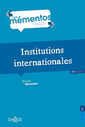 Institutions internationales - 19e éd.