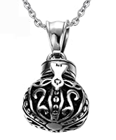 Epinki Stainless Steel Silver Crown Shape Bottle Cremation Urn Necklace for Ashes Memorial Keepsake
