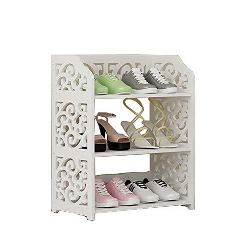 Porte-chaussures simple rack à chaussure économique stockage étanche à la poussière petite armoire à chaussures maison salon,40cm