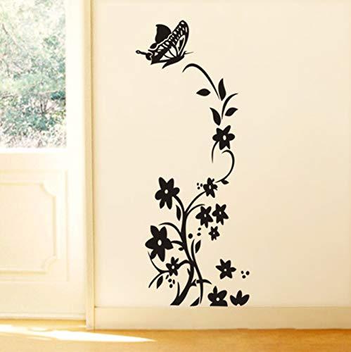 Pbldb Flor Vine Mariposa Pegatinas De Pared Decoraciones Del Refrigerador Diy Calcomanías De Casa 43X88Cm