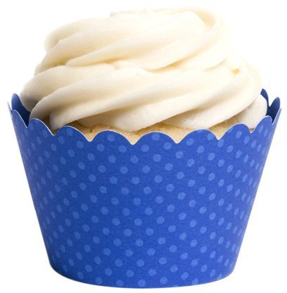 Dress My Cupcake Standard Royal Blue Cupcake Wrappers, Set of 100 by Dress My Cupcake (Royal Blue Cupcakes)