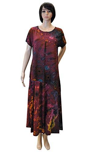 Sommerbekleidung Lagenlook weites Shirt Top Maxirock Bandeaukleid Pumphose Batik 42444 + 42441 - Shirt+Rock