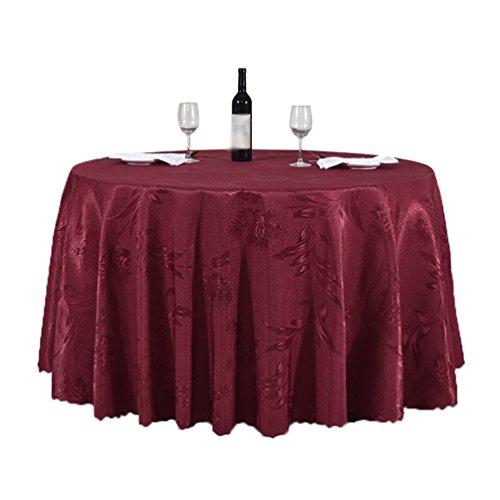 Heheja Rond Rectangulaire Carré Satin Nappe Mariage Restaurant fête Nappe Vin Rouge 280cm