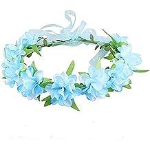 TININNA Bel Boemia Padiglione Auricolare a Fiori Corona Ghirlanda  Matrimonio da Sposa Capelli Bordo di Mare 507b5f377f1f