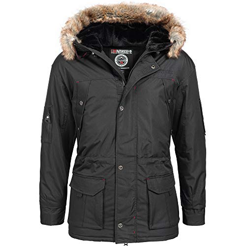 Geographical Norway 27L13 Kaspek Herren Winter Jacke Schwarz Gr. S