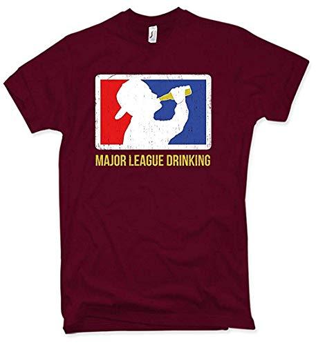 Beer Drinking T-shirt (NG articlezz Herren T-Shirt Major League Drinking Bier Party Herrentag Shirt)