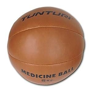 Tunturi Medizinball Classic Gym, Braun, 5 kg, 14TUSBO100