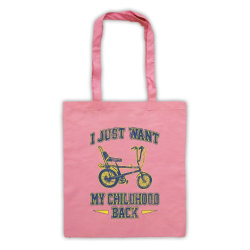 Bici Chopper I Just Want My infanzia, Borsa posteriore Rosa