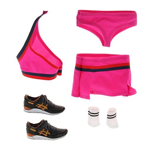 sharprepublic 1: 6 Sexy Cheerleading Uniform Tops Rock Set Für Hot Toys Phicen Weibliche Figur - Rosa - Cheerleading Kleidung
