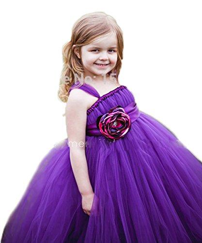 Cinderella Kleinkind Kleid (RMdress Mädchen Cinderella Tüll Röckchen Kleinkind Ballkleid Blumenmädchenkleider Bodenlänge Kinder Prinzessin Kids Kleid Festzug-Kleid (ca.Alter13,)