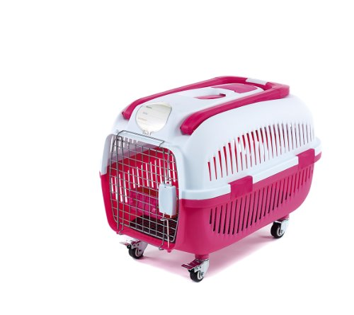 little-friends-siva-cat-dog-wheeled-transport-crate-cage-carrier-pink
