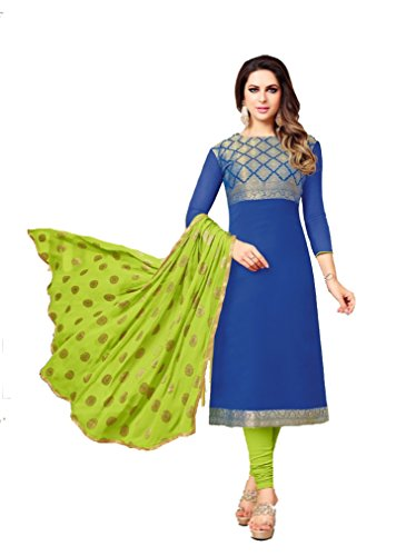 Shree Ganesh Retail Womens Banarasi Silk Churidar Material | Salwar Suit |...