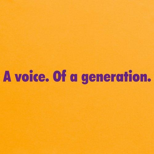 A Voice of a Generation T-Shirt, Herren Gelb