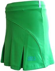 Sportkind Jupe plissée avec culotte intégré (jupe-short) de tennis / hockey sur gazon pour fille et femme en vert tailles 4 ans à XXL