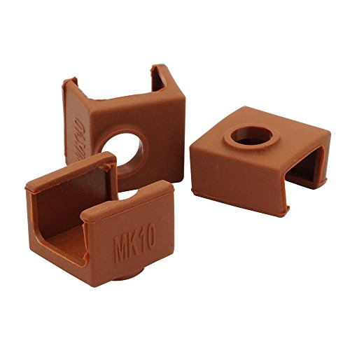 CCTREE 3D Printer Heater Block Silicone Cover MK10 Hotend For 3D Printer Wanhao Dupicator D4/I3/Dremel QIDI Makerbot 2