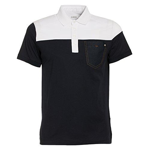 dirk-bikkembergs-polo-yellow-t-shirt-homme-bleu-blue-navy-665-s