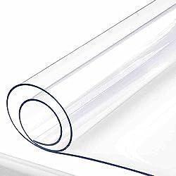 Mantel transparente impermeable e impermeable del PVC ( Tamaño : 90*130cm )