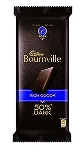 Cadbury Bournville 50% Cocoa Dark Chocolate Bar, 80 gm (Pack of 5)