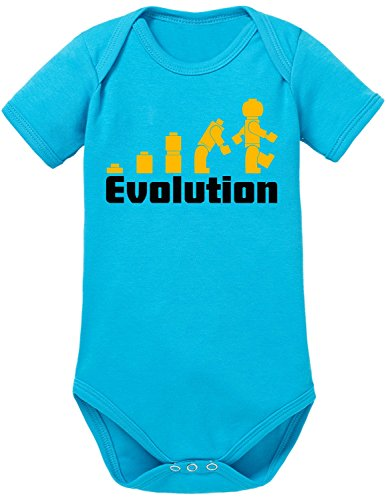 Touchlines Unisex Baby Body Evolution, Gr. 62, Türkis (Swimming Pool 26)