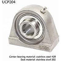 UCPA204 Acero inoxidable Cojinete de bloque de almohada,Rodamiento de bloque de almohada para varios equipos mecánicos