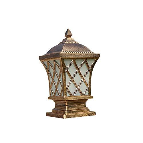 Wasserdichter Pfosten-Poller-super helle helle Laternenpfahl-Pfosten-Stehlampe der Lampen-Pfosten-Wand-Laternen-Firma im antiken schwarzen (Color : Bronze-H-62CM) (Antike Lampe Firma)