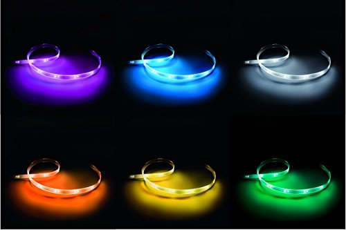 Philips Hue LightStrip+ 16 Mio Farben (Basis Set ohne Bridge), EEK A, 2m, flexibel erweiterbar, ultrahell max 1600 Lumen - 3