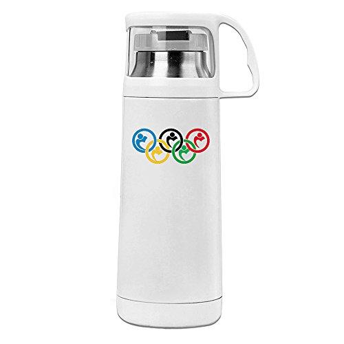 rte Travel Tumbler Fünf Kreis Thermo Wasser Flasche Weiß 14oz/350ml ()