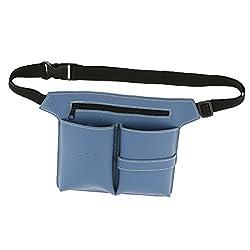 Phenovo Hairdressing Scissors Bag Hairdresser Salon Tool Holder Pouch Storage - blue