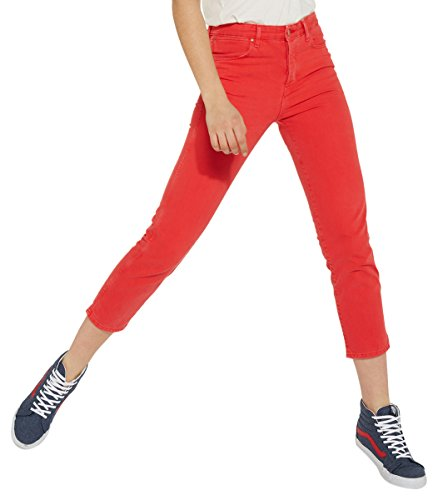 Wrangler Damen Straight Jeans Cropped, Rot (Red 3K), W30