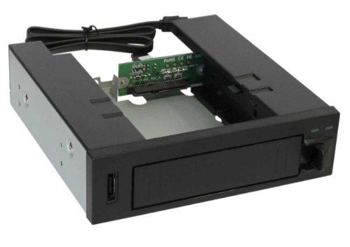 InLine 37556 HDD Caddy Hot Swap Gehäuse für 13,3 cm (5,2 Zoll)/8,9 cm (3,5 Zoll) SATA HDD