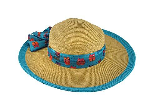 laurel-burch-gorra-de-bisbol-para-mujer-azul-turquesa-talla-nica
