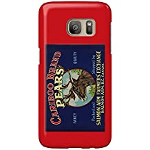 Cariboo Pear Label (Galaxy S7 Cell Phone Case, Slim Barely There)