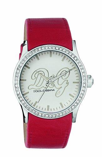 Dolce & Gabbana ular' – Reloj de mujer de cuarzo (japonés), correa de piel color rojo