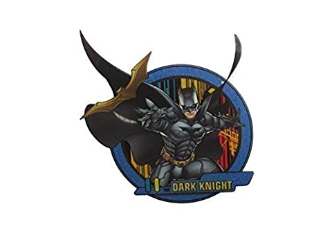 Batman Logo D.C comics smooth style iron on heat transfer or sew on embroidered clothes patch by fat-catz-copy-catz (Smooth Batman Dark Knight No:1)