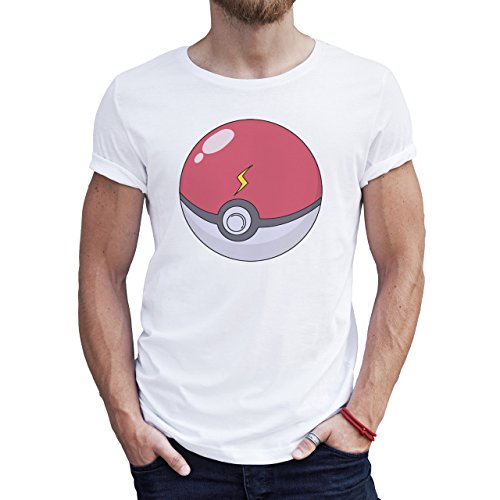 Poke Ball For Pokemon Go Quality Herren T-Shirt Weiß