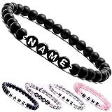 Купить Personalisierbare Armbänder | Partnerarmbänder mit Onyx Perlen | Perlenarmband | individueller Schmuck für Herren und Frauen (weitere verfügbar)