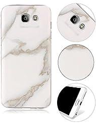 MOMDAD Coque pour Samsung Galaxy A3 2017 SM-A320 Marbre Téléphone Case Ultra Slim TPU Silicone Case Cover Housse Etui pour Samsung Galaxy A3 2017 SM-A320 Gel Souple Flexible Coque
