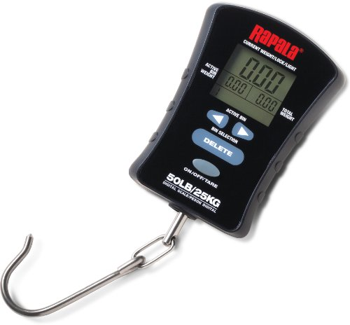 Rapala compacta pantalla táctil Escala de £ 50. Rapala Compact Touch Screen Fishing Lure. Total bin weights continuously displayed. View weight in each bin. Weight display option - lb./oz, decimals lbs. or kg. Back light for low light and evening con...