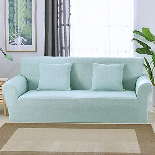 Tsscy copridivani coprisedili anti-scivolo copridivano fodera per divano sofa throws protezione della sedia mobili poltrona poliestere-azzurro 2 posti