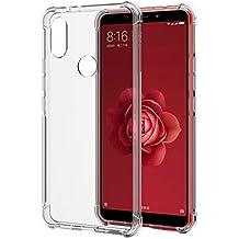 SPARIN [2 Unidades] Funda Xiaomi Mi A2, Carcasa Xiaomi Mi A2 TPU Transparente