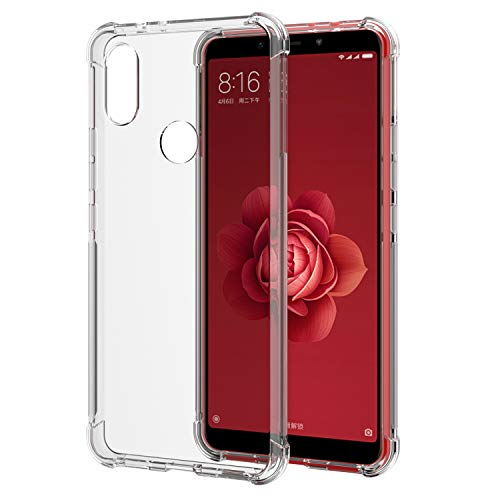 [2 Unidades] Funda Xiaomi Mi A2, Carcasa Xiaomi Mi A2 SPARIN TPU Transparente [Contra Arañazos] [Anti-Golpe] [Ajuste Perfecto] para Xiaomi Mi A2