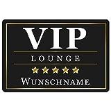 Personalisierte Fussmatte mit Namen VIP - Lustige Geschenke mit Personalisierung - originelle Türmatte VIP Lounge mit Name