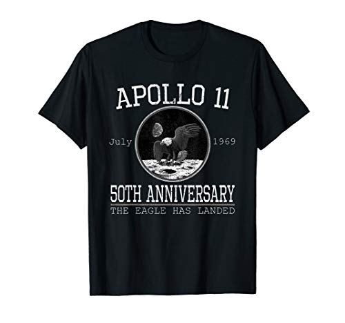Apollo 11 50th Anniversary The Eagle Has Landed Apollo logo T-Shirt (Kinder Eagle American)